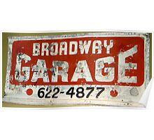 Garage Grunge Poster