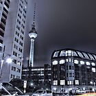 Fernsehturm in Berlin bei Nacht ( TV tower at night ) by pdsfotoart