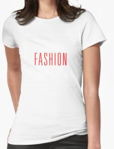 It's Called Fashion, Look It Up. White Red T-Shirt