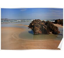 Beach At Ards Forest Park Poster