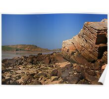 Rocks At Ards Forest Park Beach Poster