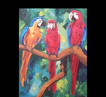 Parrot Trio: The Three Amigos - iPhone iPod iPad by PhoneCase