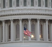 The U.S. Flag at the U.S. Capitol by 2Canons
