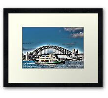 Sydney Harbour Ferry HDR Framed Print