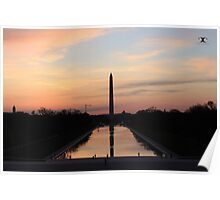 Sunrise from the Lincoln Memorial in DC Poster