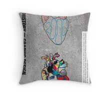 A Brief History of Graphic Design Throw Pillow