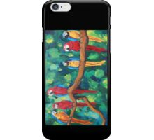 Colorful Red Blue Yellow Parrots - iPhone iPod iPad iPhone Case/Skin