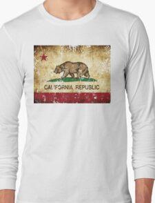 California Republic Flag Rustic  Long Sleeve T-Shirt
