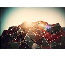 Geometric sunrise Photographic Print