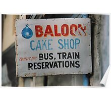 Balloons & cakes & trains Poster