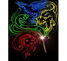 Harry Potter Hogwarts Houses Photographic Print
