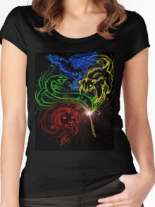 Harry Potter Hogwarts Houses Women's Fitted Scoop T-Shirt