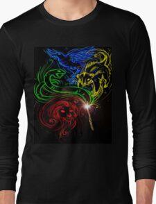 Harry Potter Hogwarts Houses Long Sleeve T-Shirt