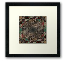 Urban mashup Framed Print