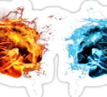 Fire and ice - Fist bump Sticker
