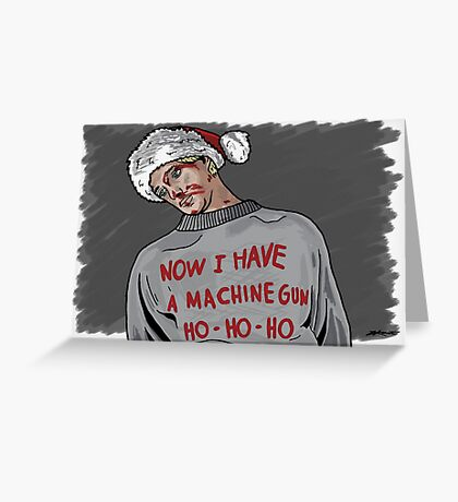 Tony (The Dead Guy In The Elevator In Die Hard) Greeting Card