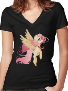 My Little Pony: Fluttershy Women's Fitted V-Neck T-Shirt