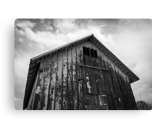 Old Barn - Black and White Canvas Print