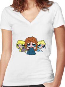 PrincessPuff Girls2 Women's Fitted V-Neck T-Shirt