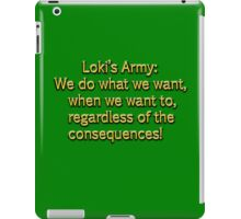 Loki's Army iPad Case/Skin
