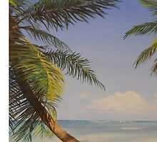 Palm Tree Ocean Tropical Beach Island - iPhone iPod iPad by PhoneCase