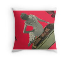 Queen of a Cadillac Throw Pillow