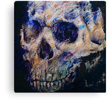 Ultraviolet Skull Canvas Print