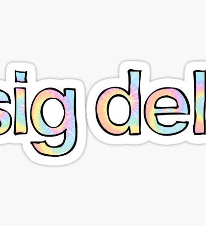 Sig Delt Tie Dye Sticker