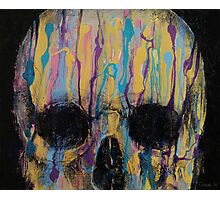 Psychedelic Skull Photographic Print
