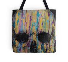 Psychedelic Skull Tote Bag