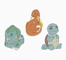 Pokemon - Gen 1 Starters by DracoCur