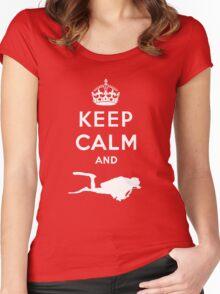 Keep Calm and Dive Women's Fitted Scoop T-Shirt