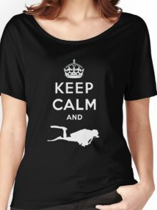 Keep Calm and Dive Women's Relaxed Fit T-Shirt