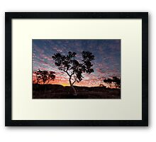 Pilbara  Sunset Framed Print