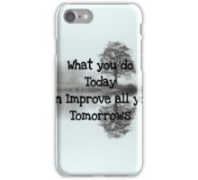 Today /Tomorrow iPhone Case/Skin