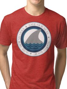 save our sharks Tri-blend T-Shirt