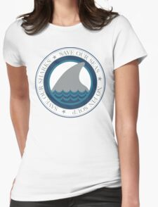 save our sharks Womens Fitted T-Shirt
