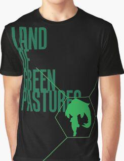 4 Lands - Green Graphic T-Shirt