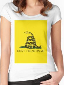 Don't Tread On Me - Libertarian Style Women's Fitted Scoop T-Shirt