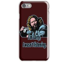 Big Lebowski Philosophy 28 iPhone Case/Skin