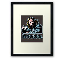 Big lebowski Philosophy 29 Framed Print