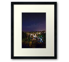 Knaresborough railway viaduct and the River Nidd Gorge Framed Print