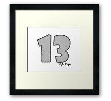 TAYLOR SWIFT 13 Framed Print