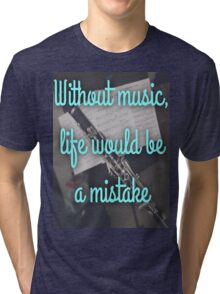 Without music... Tri-blend T-Shirt