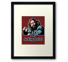 Big Lebowski Philosophy 33 Framed Print