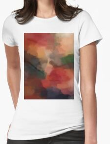 Abstract Nature Dream Landscape Womens Fitted T-Shirt