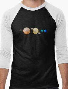 Planets of the Solar System Men's Baseball ¾ T-Shirt