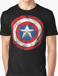 Cap America Shield with star Graphic T-Shirt
