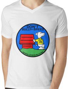 PIT COOL PIT BULL LOGO BY URB SUB 2 Mens V-Neck T-Shirt