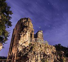 Knaresborough Castle Ruins overlooking the River Nidd by Spookydaz